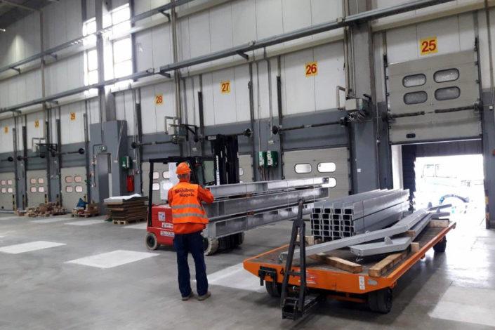 Stahlbau-Transport-Umbau Logistikzentrum-Wiesloch