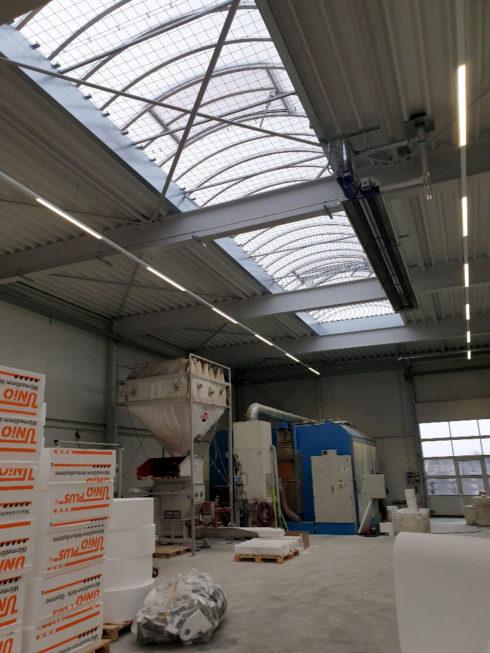 Stahlbau-Oberlichter-Neubau Fräshalle-Grönenbach-Zell