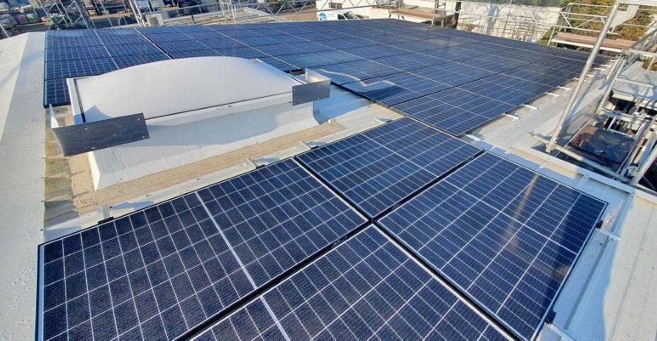 SF-Bau-Montage Solarzellen-Verlängerung Servicehalle-Kirchheim-Schlüsselfertigbau