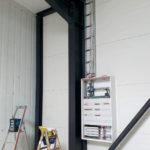 SF-Bau-Stromkasten montiert-Verlängerung Servicehalle-Kirchheim-Schlüsselfertigbau