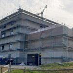 SF-Bau-Außenarbeiten Gerüst-Neubau Betriebs- und Bürogebäude-Kernen-Rommelshausen-Schlüsselfertigbau