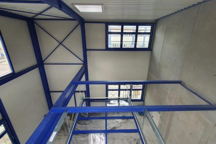 SF-Bau-Stahlkonstruktion-Erweiterung Gebäude C-Mannheim-Schlüsselfertigbau