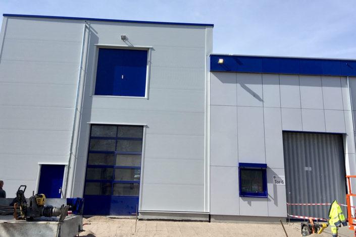 SF-Bau- Fertigstellung Außenanlagen-Erweiterung Gebäude C-Mannheim-Schlüsselfertigbau