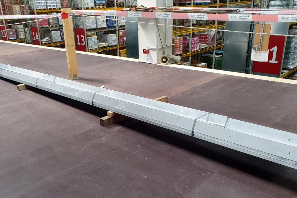 Stahlbau-Rammschutzwinkel-Umbau Logistikzentrum-Wiesloch-Stahlbau
