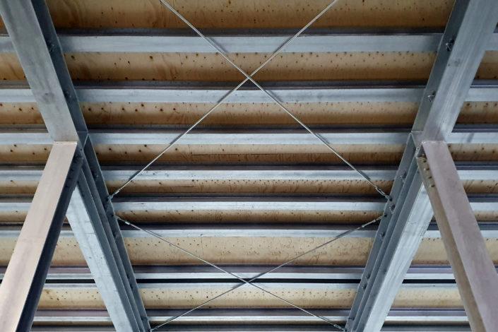 Stahlbau-Verschraubung Verbände-Umbau Logistikzentrum-Wiesloch-Stahlbau