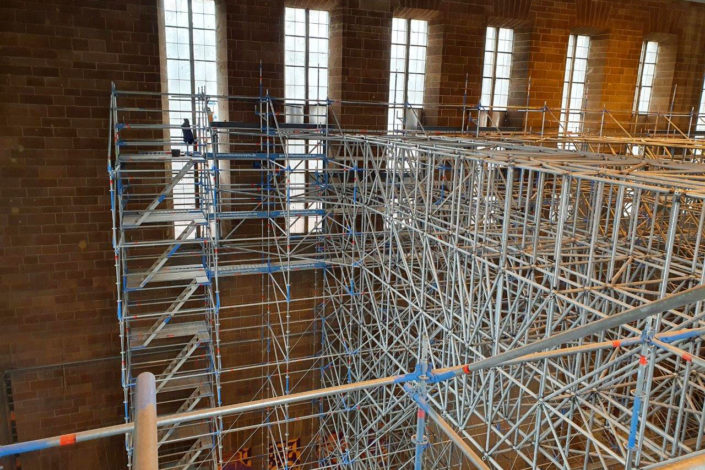 Stahlbau-Gerüstaufbau-Konstruktive Stahlbauarbeiten am Bahnhof-Stuttgart-Stahlbau