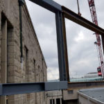Stahlbau-Montage Stahlträger-Konstruktive Stahlbauarbeiten am Bahnhof-Stuttgart-Stahlbau