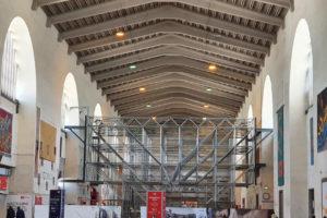 Stahlbau-Montage+Demontage Trapezblech und Klemmungen-Konstruktive Stahlbauarbeiten am Bahnhof-Stuttgart-Stahlbau