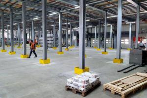 Stahlbau-Fertigstellung Bühne 1-Umbau Logistikzentrum-Wiesloch-Stahlbau