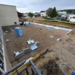 SF-Bau-Vorarbeiten Bodenplatte-Erweiterung Produktionshalle-Weil der Stadt-Schlüsselfertigbau