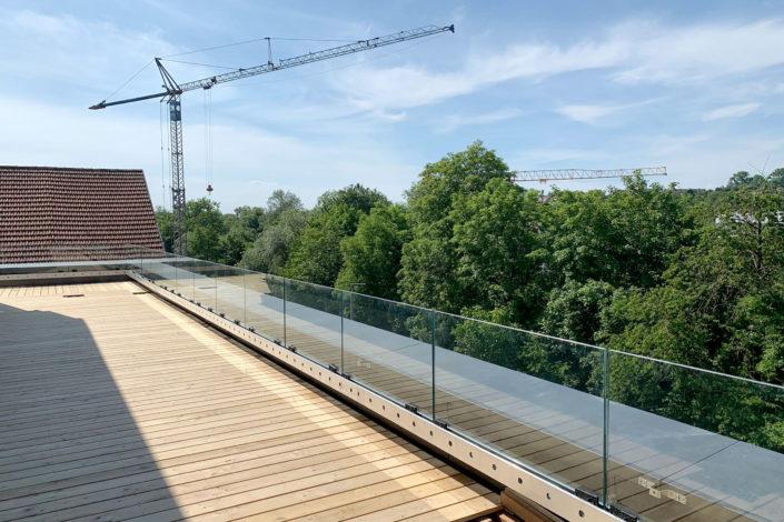 Schlosser-Glasgeländer-Neubau Areal-Eislingen-Schlosserei