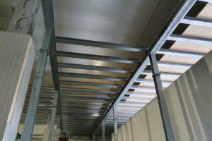 Stahlbau-Tiefkühllager Bühne BA 2+3-Umbau Logistikzentrum-Wiesloch-Stahlbau
