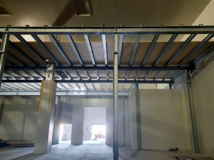 Stahlbau-Bühne BA 5+6-Umbau Logistikzentrum-Wiesloch-Stahlbau