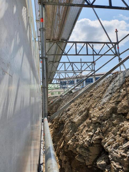 SF-Bau-Gerüstsaufbau-Erweiterung Produktionshalle-Weil der Stadt-Schlüsselfertigbau