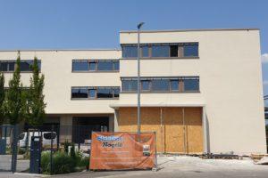SF-Bau-Außenfassade-Neubau Betriebs- und Bürogebäude-Rommelshausen-Schlüsselfertigbau