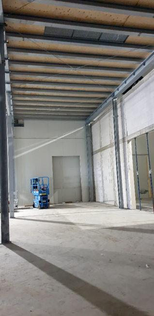 Stahlbau-Tiefkühllager Bühne-Umbau Logistikzentrum-Wiesloch-Stahlbau