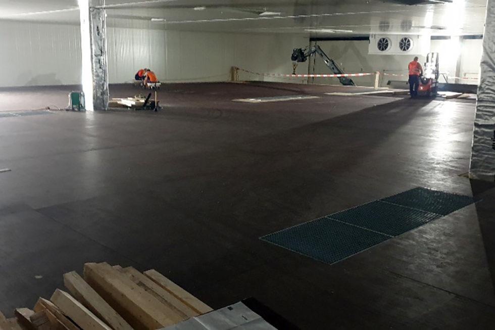 Stahlbau-Tiefkühllager Bodenarbeiten-Umbau Logistikzentrum-Wiesloch-Stahlbau