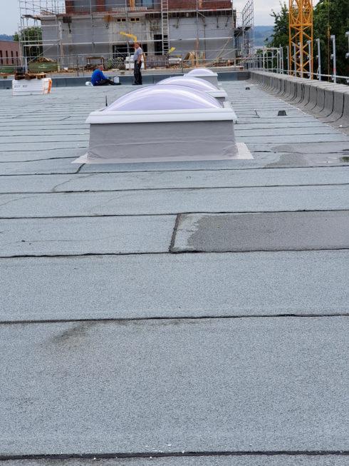 SF-Bau-Decke betoniert und Porenbetonmontage-Neubau Fitness und Werkstatt-Eislingen-Schlüsselfertigbau
